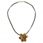 Preview: Kette, Blume, oliv-gold, Email