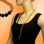 Preview: Kette, Perlenkette orange-schwarz