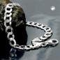 Armband 6,7mm Panzerkette flach Silber 925 21cm