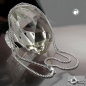 Kette 2mm Flachpanzerkette 2x diamantiert Silber 925 60cm