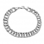 Mobile Preview: Armband 9,4mm Fantasiemuster rhodiniert Silber 925 19cm