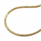 Preview: Kette 1,5mm Schlangenkette rund diamantiert vergoldet AMD 38cm -219007-38