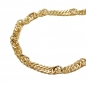 Preview: Bauchkette Singapur 2,2mm diamantiert gold-plattiert 90cm