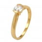 Mobile Preview: Ring, Zirkonia, gold-plattiert 3 Mikron -30056-60