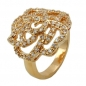 Mobile Preview: Ring, Zirkonia, gold-plattiert 3 Micron -30063-62