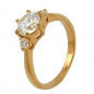 Preview: Ring, Zirkonia, gold-plattiert 3 Micron -30067-56