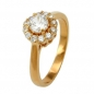Mobile Preview: Ring, Zirkonias, gold-plattiert 3 Micron -30069-60