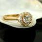 Preview: Ring, Zirkonia, gold-plattiert 3 Micron -30069-62