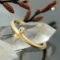 Preview: Ring, kl. Zirkonia, gold-plattiert -30085-62