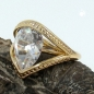 Preview: Ring, 18mm gold-plattiert Zirkonia -30197-60