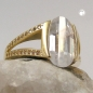 Preview: Ring 14mm gold-plattiert Zirkonia Gr. 56 -30205-56