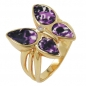 Preview: Ring 20mm Schmetterling gold-plattiert Gr. 62 -30221-62