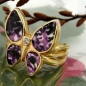 Preview: Ring 20mm Schmetterling gold-plattiert Gr. 60 -30221-60