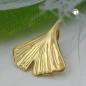 Anhänger 12mm Ginkgoblatt glänzend 9Kt GOLD