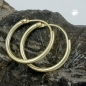 Creolen, 15mm, glänzend, 9Kt GOLD