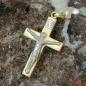 Anhänger Jesuskreuz bicolor, 9Kt GOLD