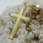Anhänger Kreuz bicolor 9Kt GOLD