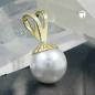 Anhänger Perle 8mm, Imitat, 9Kt GOLD
