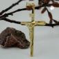 Anhänger Kreuz mit Jesus, 9Kt GOLD