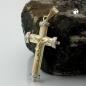 Schmuck Anhänger 26x16mm Kreuz-Jesus bicolor 9Kt GOLD