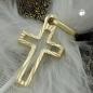 Anhänger 16x9mm Kreuz diamantiert 14Kt GOLD