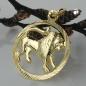 Anhänger 15mm Sternzeichen Löwe 9Kt GOLD