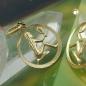 Anhänger 15mm Sternzeichen Jungfrau 9Kt GOLD