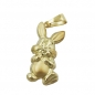 Preview: Anhänger Hase 20x11mm 9Kt GOLD