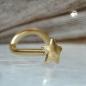 Nasenstecker 2,5mm Stern glänzend18Kt GOLD