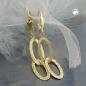 Ohrbrisuren Ohrring diamantiert 9Kt GOLD