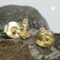 Ohrstecker 5x4mm kleiner Anker 9Kt GOLD