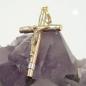 Anhänger Kreuz bicolor, 9Kt GOLD