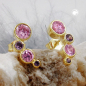 Ohrstecker, Zirkonia pink-lila, 9Kt GOLD