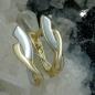 Creolen, bicolor glänzend, 9Kt GOLD