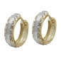Preview: Creole, bicolor diamantiert, 9Kt GOLD -430768