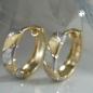 Creolen, bicolor diamantiert, 9Kt GOLD