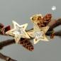 Ohrstecker 8mm Stern mit Zirkonia 9Kt GOLD