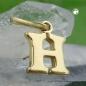 Anhänger 8x7mm Buchstabe H glänzend 9Kt GOLD