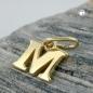 Anhänger 7x8mm Buchstabe M glänzend 9Kt GOLD
