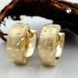 Creolen, vorn matt diamantiert, 9Kt GOLD