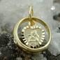 Anhänger 10x3mm Taufring mit Herz Engel Zirkonia 9Kt GOLD