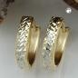 Creolen, diamantiert, bicolor, 9Kt GOLD