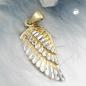 Anhänger Engelsflügel 21x9,5mm bicolor rhodiniert diamantiert 9Kt GOLD