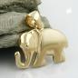Anhänger 11x15mm Elefant matt-glänzend 9Kt GOLD