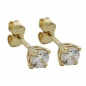 Preview: Ohrstecker 3mm Zirkonia Viereck 9Kt GOLD