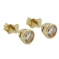 Preview: Ohrstecker 4,5mm Zirkonia rund 9Kt GOLD