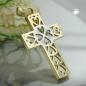 Anhänger 19x13mm filigranes Kreuz bicolor 9Kt GOLD