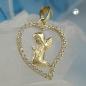 Anhänger Engel im Herz Zirkonia 9Kt GOLD