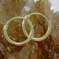 Creolen 11mm Drahtcreole Steckverschluss glänzend 8Kt GOLD