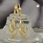 Ohrbrisuren 37x8,5mm glänzend 8Kt GOLD